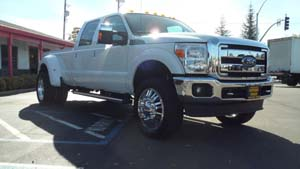 2013 Ford F-350 Super Duty Dual Rear Wheel with American Force Dually With Adapters Series 9 Liberty DRW