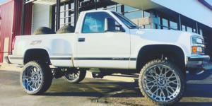 Chevrolet Silverado 1500 with Vision Off Road 412 Rocker