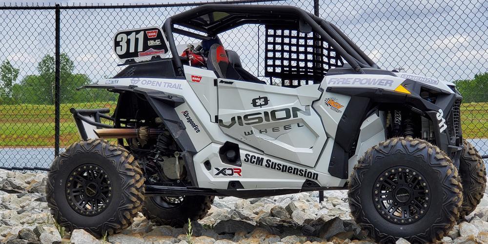 Polaris RZR 1000 Turbo with Vision ATV 356BL Manx 2 Beadlock