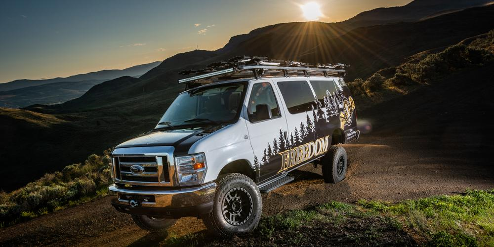 Ford E-250 Econoline with Vision Off Road 354 Manx 2