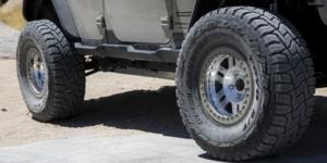 Jeep Wrangler JK with Vision Off Road 398 Manx Forged Beadlock