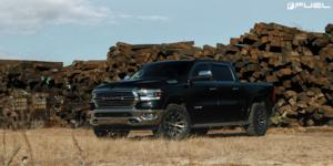 Dodge Ram 1500 with Fuel 1-Piece Wheels Blitz - D674