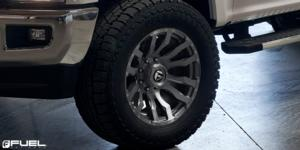 Ford F-250 Super Duty with Fuel 1-Piece Wheels Blitz - D693