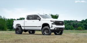 Chevrolet Silverado 1500 with Fuel 1-Piece Wheels Contra - D615