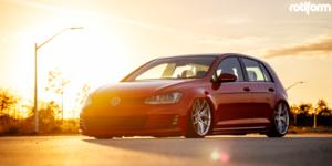 Volkswagen GTI with Rotiform FLG