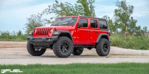 Jeep Wrangler with Fuel 1-Piece Wheels Kicker 5 - D697