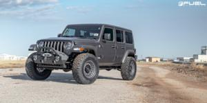 Jeep Wrangler with Fuel 1-Piece Wheels Militia - D726