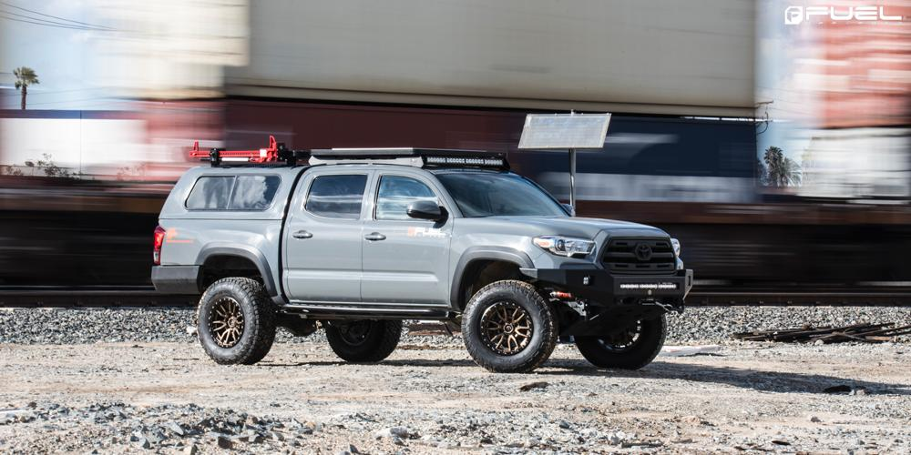 Toyota Tacoma with Fuel 1-Piece Wheels Rebel - D681
