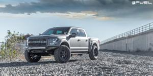 Ford F-150 Raptor with Fuel 1-Piece Wheels Shok - D664