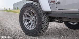 Jeep Wrangler with Fuel 1-Piece Wheels Siege - D705