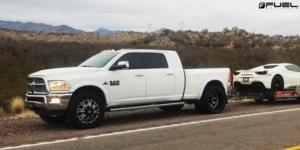 Dodge Ram 3500 with Fuel Dually Wheels Throttle Dually Front - D513