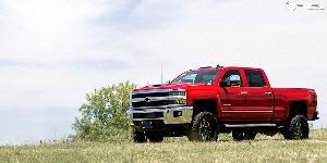 Chevrolet Silverado 2500 HD with Fuel 1-Piece Wheels Flow 8 - D587