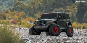 Jeep Wrangler with Fuel 1-Piece Wheels Covert Beadlock - D113