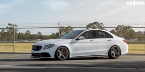 Mercedes-Benz C63s AMG with Rotiform WGR