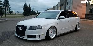 Audi A4 with Rotiform LHR