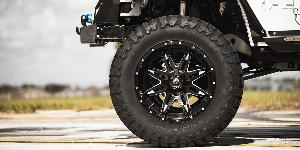 Jeep Wrangler with Fuel 1-Piece Wheels Lethal - D566