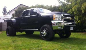 2010 Chevrolet Silverado 3500 HD Dual Rear Wheel with American Force Dually With Adapters Series 4 Magnum DRW