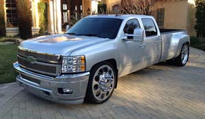 2012 Chevrolet Silverado 3500 HD Dual Rear Wheel with American Force Dually With Adapters Series 95 Holes DRW