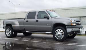 2005 Chevrolet Silverado 3500 HD Dual Rear Wheel with American Force Dually With Adapters Series 4 Magnum DRW