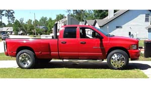 2003 Dodge RAM 3500 Dual Rear Wheel with American Force Dually With Adapters Series 1 Classic DRW