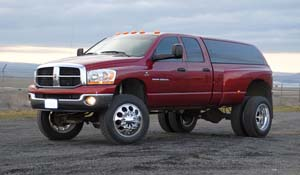 2006 Dodge RAM 3500 Dual Rear Wheel with American Force Dually With Adapters Series 95 Holes DRW