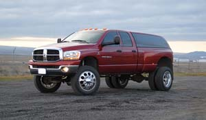 2010 Dodge RAM 3500 Dual Rear Wheel with American Force Dually With Adapters Series 05 Holes DRW