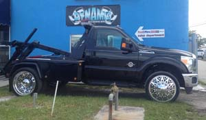 2012 Ford F-450 Super Duty Dual Rear Wheel Tow Truck with American Force Dually With Adapters Series 28 Ammo DRW