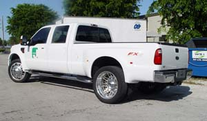 2008 Ford F-350 Super Duty Dual Rear Wheel with American Force Dually With Adapters Series 9 Liberty DRW