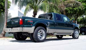 2009 Ford F-350 Super Duty Dual Rear Wheel with American Force Dually With Adapters Series 4 Magnum DRW