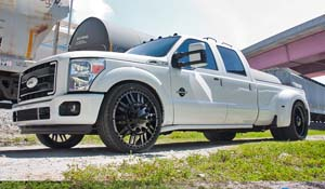 2011 Ford F-350 Super Duty Dual Rear Wheel with American Force Dually With Adapters Series 9 Liberty DRW