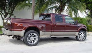 2009 Ford F-450 Super Duty Dual Rear Wheel with American Force Dually With Adapters Series 11 Independence DRW