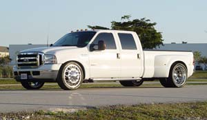2006 Ford F-350 Super Duty Dual Rear Wheel with American Force Dually With Adapters Series 4 Magnum DRW