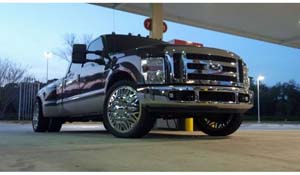 2008 Ford F-350 Super Duty Dual Rear Wheel with American Force Dually With Adapters Series 28 Ammo DRW