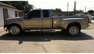 2000 Ford F-350 Super Duty Dual Rear Wheel with American Force Dually With Adapters Series 1 Classic DRW