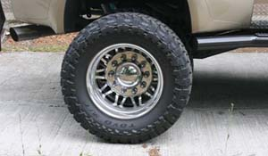 2001 Ford F-350 Super Duty Dual Rear Wheel with American Force Dually With Adapters Series 9 Liberty DRW