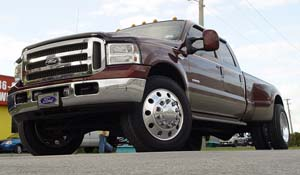 2006 Ford F-350 Super Duty Dual Rear Wheel with American Force Dually With Adapters Series 1 Classic DRW