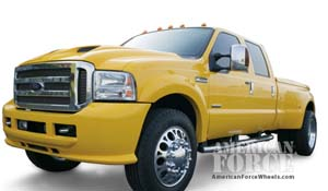 2005 Ford F-350 Super Duty Dual Rear Wheel with American Force Dually With Adapters Series 4 Magnum DRW