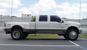 2006 Ford F-350 Super Duty Dual Rear Wheel with American Force Dually With Adapters Series 9 Liberty DRW