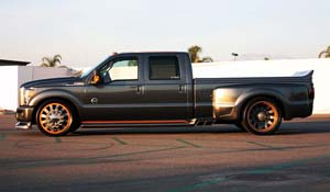 2011 Ford F-350 Super Duty Dual Rear Wheel with American Force Dually With Adapters Series 23 Bolt DRW