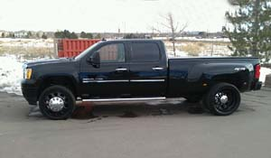 2010 GMC Denali HD Dual Rear Wheel with American Force Dually With Adapters Series 05 Holes DRW