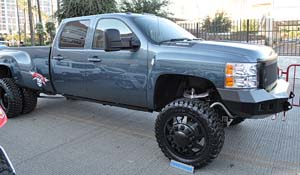 2012 Chevrolet Silverado 3500 HD Dual Rear Wheel with American Force Dually With Adapters Series 11 Independence DRW