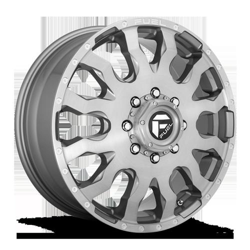 Fuel Dually Wheels Blitz Dually Front - D693