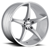 TR70 Silver Milled Spokes