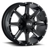 Busted Satin Black Milled Spokes