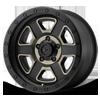 XD133 Fusion Off-Road Satin Black Machined w/ Dark Tint Clear Coat