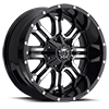 535 Gloss Black with Machined Face and Chrome Star Cap