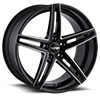 TR73 Black with Milled Spokes