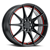 Speedster Gloss Black w/ Red Stripe