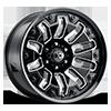 362 Armor Gloss Black Milled Spokes/Black Bolts